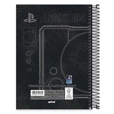 Caderno univ.capa dura 15x1 300fls Playstation 20602 Spiral Ps PT 1 UN