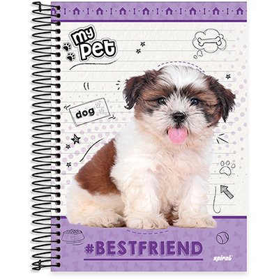 Caderno univ.capa dura 15x1 300fls My Pet 20598 Spiral Pet PT 1 UN