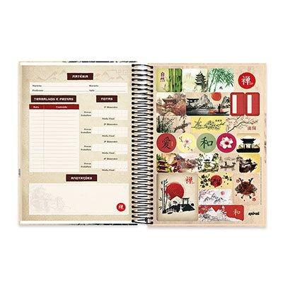 Caderno Universitário Capa Dura 10x1 200fl Zen 20533 Spiral Zen PT 1 UN