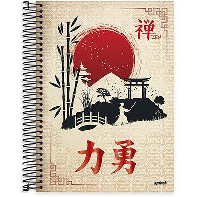 Caderno Universitário Capa Dura 10x1 200fl Zen 20534 Spiral Zen PT 1 UN