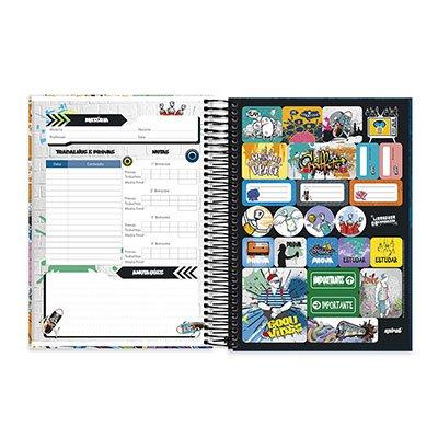 Caderno Universitário Capa Dura 10x1 200fl Liberdade de Expressão 20475 Spiral Lib PT 1 UN