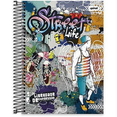 Caderno Universitário Capa Dura 10x1 200fl Liberdade de Expressão 20476 Spiral Lib PT 1 UN
