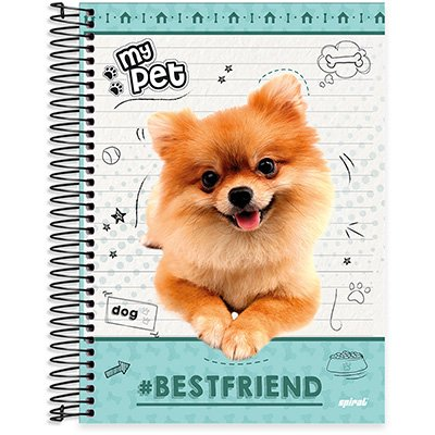 Caderno Universitário Capa Dura 10x1 200fl My Pet 20499 Spiral Pet PT 1 UN