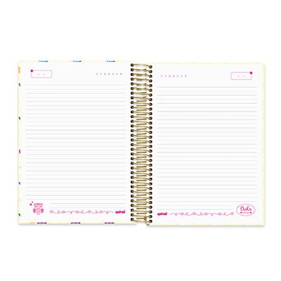 Caderno Universitário Capa Dura 10x1 200fl Corujinhas 20430 Spiral Cor PT 1 UN
