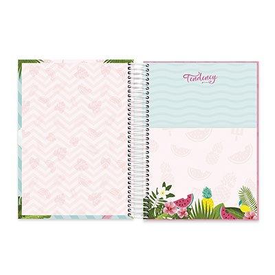 Caderno Universitário Capa Dura 10x1 200fl Flamingo 20516 Spiral Ten PT 1 UN