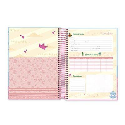 Caderno Universitário Capa Dura 10x1 200fl S.Thing 20519 Spiral Ten PT 1 UN
