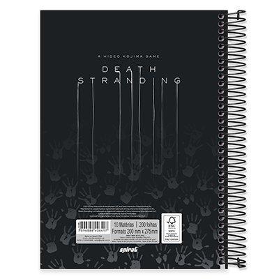 Caderno Universitário Capa Dura 10x1 200fl Death Stranding 20432 Spiral Dsg PT 1 UN