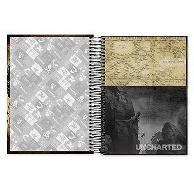 Caderno univ.capa dura 10x1 200fl Uncharted 20530 Spiral Unc PT 1 UN