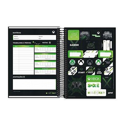 Caderno Universitário Capa Dura 10x1 200fl XBox 20531 Spiral Xbox PT 1 UN
