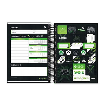 Caderno Universitário Capa Dura 10x1 200fl XBox 20532 Spiral Xbox PT 1 UN