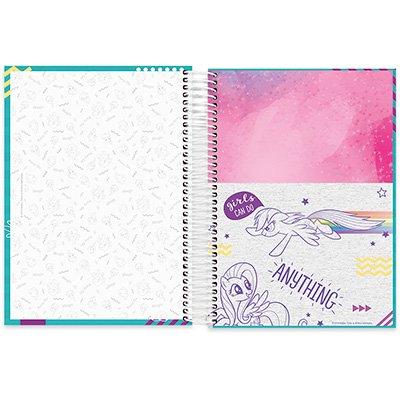 Caderno Universitário Capa Dura 10x1 200fl Little Pony 20497 Spiral Ltp PT 1 UN