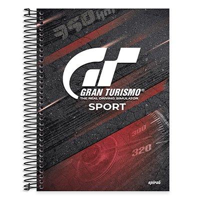 Caderno Universitário Capa Dura 10x1 200fl Gran Turismo 20454 Spiral Gt PT 1 UN