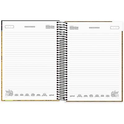 Caderno Universitário Capa Dura 10x1 200fl Minions 20489 Spiral Mim PT 1 UN