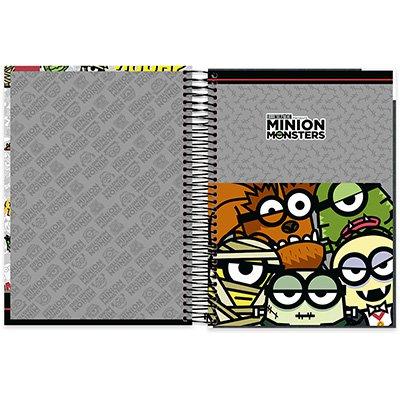 Caderno Universitário Capa Dura 10x1 200fl Minions 20492 Spiral Mim PT 1 UN