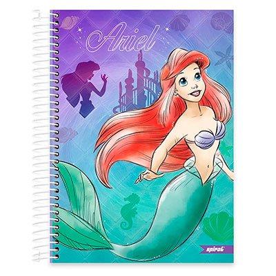 Caderno Universitário Capa Dura 10x1 200fl Princesas 20437 Spiral Pn PT 1 UN