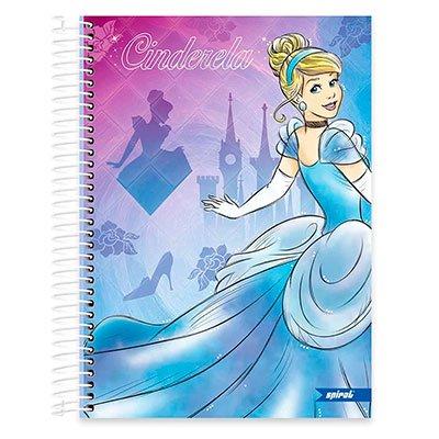 Caderno Universitário Capa Dura 10x1 200fl Princesas 20439 Spiral Pn PT 1 UN