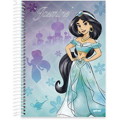 Caderno Universitário Capa Dura 10x1 200fl Princesas 20440 Spiral Pn PT 1 UN