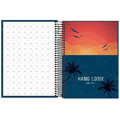 Caderno Universitário Capa Dura 10x1 200fl Hang loose 20458 Spiral Ha PT 1 UN