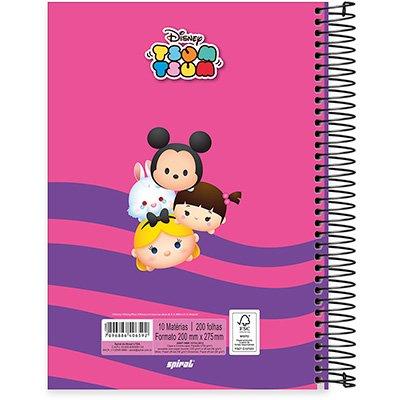 Caderno Universitário Capa Dura 10x1 200fl Tsum Tsum 20441 Spiral Tsum PT 1 UN