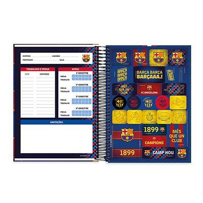 Caderno Universitário Capa Dura 10x1 200fl Barcelona 20428 Spiral Bc PT 1 UN