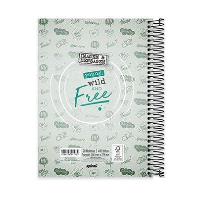 Caderno Universitário capa dura 20x1 400fl Imagem&Mensagem 20660 Spiral PT 1 UN