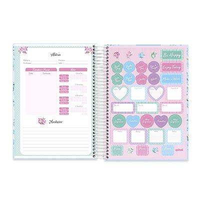 Caderno Universitário capa dura 20x1 400fl Femmina 20651 Spiral Fem PT 1 UN