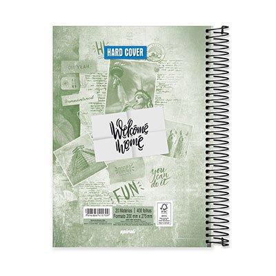 Caderno Universitário capa dura 20x1 400fl Hard Cover 20657 Spiral Har PT 1 UN