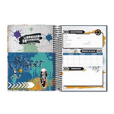 Caderno Universitário capa dura 20x1 400fl Liberdade de Expressão 20666 Spiral Lib PT 1 UN