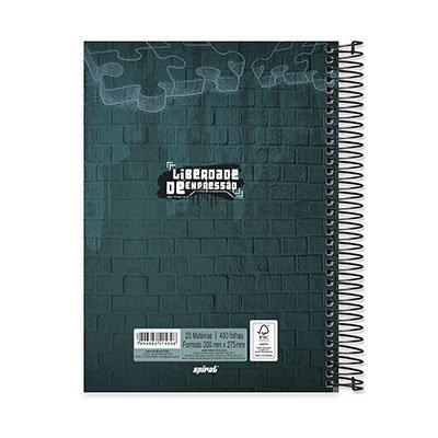 Caderno Universitário capa dura 20x1 400fl Liberdade de Expressão 20667 Spiral Lib PT 1 UN