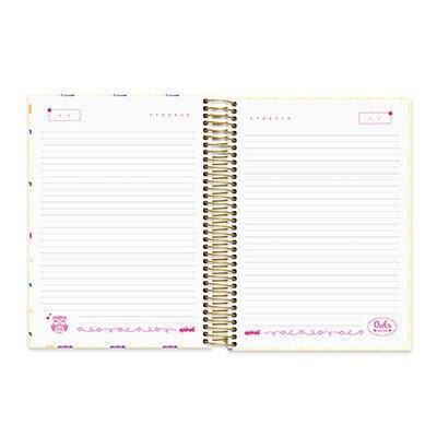 Caderno Universitário capa dura 20x1 400fl Corujinhas 20640 Spiral Cor PT 1 UN