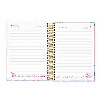 Caderno Universitário capa dura 20x1 400fl Corujinhas 20641 Spiral Cor PT 1 UN