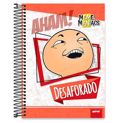 Caderno Universitário Capa Dura 20x1 400fl Meme Maniacs 20674 Spiral Mm PT 1 UN