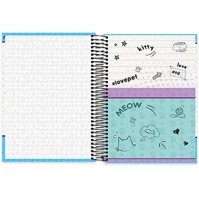 Caderno Universitário capa dura 20x1 400fl My Pet 20680 Spiral Pet PT 1 UN