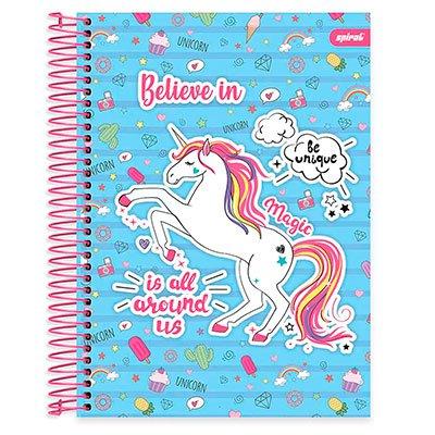 Caderno Universitário capa dura 20x1 400fl Fantasy 20649 Spiral Fan PT 1 UN