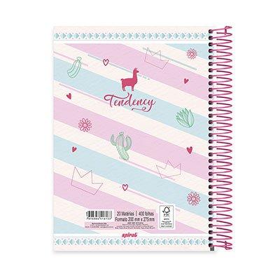Caderno Universitário capa dura 20x1 400fl Tendency 20693 Spiral Ten PT 1 UN