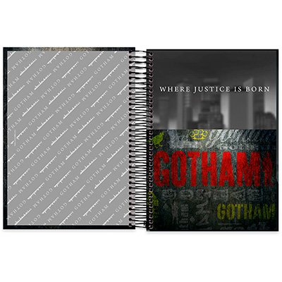 Caderno Universitário capa dura 20x1 400fl Gothan 20705 Spiral Gth PT 1 UN