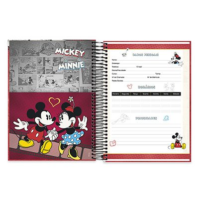 Caderno Universitário capa dura 20x1 400fl Mickey&minnie 20643 Spiral Dm PT 1 UN