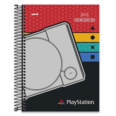 Caderno Universitário capa dura 20x1 400fl Playstation 20683 Spiral Ps PT 1 UN