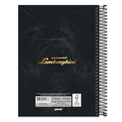 Caderno Universitário capa dura 20x1 400fl Lamborghini 20664 Spiral Lb PT 1 UN