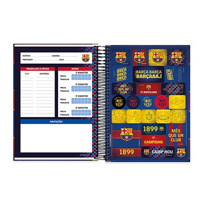 Caderno Universitário capa dura 20x1 400fl Barcelona 20639 Spiral Bc PT 1 UN