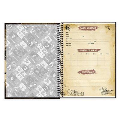 Caderno Universitário capa dura 1x1 96 fls Uncharted 20375 Spiral Unc PT 1 UN