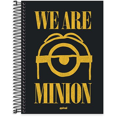 Caderno univ.capa dura 10x1 160fls Minions 211803 Spiral Umn PT 1 UN