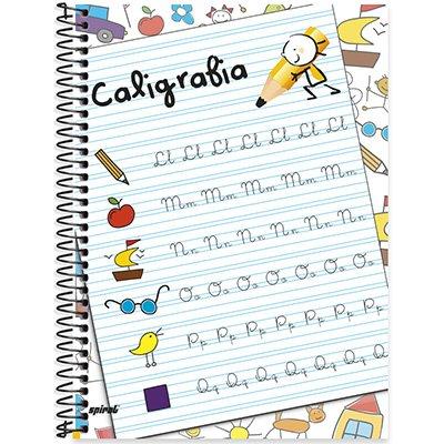 Caderno caligrafia universitário capa dura 96fls 79156 Spiral PT 1 UN