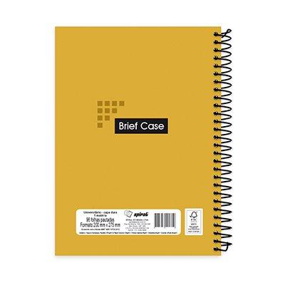 Caderno universitário capa dura 1x1 96 fls amarelo Brief Case 91819 Spiral PT 1 UN