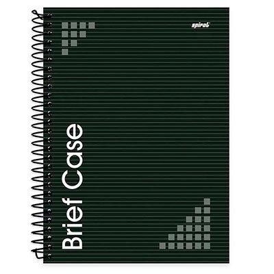 Caderno universitário capa dura 1x1 96 folhas Brief Case Preto Spiral PT 1 UN