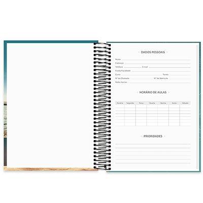 Caderno universitário capa dura 15x1 240 folhas Imagem e Mensagem 212063 Spiral PT 1 UN