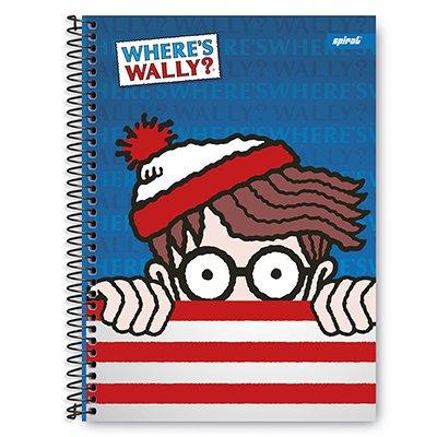 Caderno univ.capa dura 1x1 96 fls Wally 20328 Spiral Wal PT 1 UN