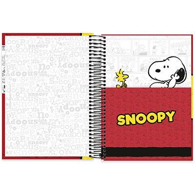 Caderno Universitário Capa Dura 10x1 200fl Snoopy 20464 Spiral Sno PT 1 UN