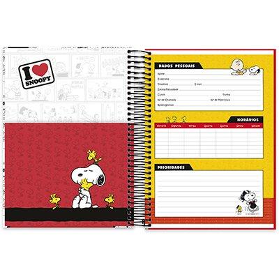 Caderno Universitário Capa Dura 10x1 200fl Snoopy 20465 Spiral Sno PT 1 UN