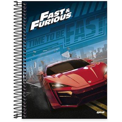 Caderno Universitário capa dura 20x1 400fl Velozes e Furiosos 20679 Spiral Vel PT 1 UN